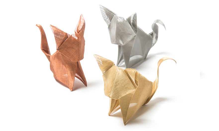 金属製の折り紙、おりあみ/ORIAMI