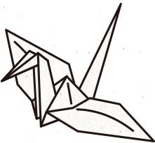 金属製の折り紙、おりあみ/ORIAMI、折り鶴